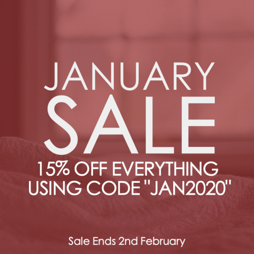 2020 January Sale - 15% Off Everything
