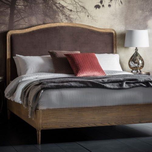 IM BR Bayeux Bed Frame - Mouse Velvet